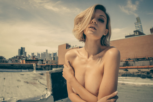 Model Anna Lisa Wagner Topless in NYC for Traaaw Magazine
